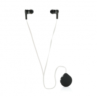 Oreillettes sans fil avec câble TPE de 60 cm. Les oreillettes sont dotées d'un clip pour l'attacher sur vos vêtements. Avec boutons play/pause et commande du volume. L'appareil utilise la technologie BT 4.0 pour une connexion parfaite avec votre téléphone jusqu'à 10 mètres. Batterie de 60 mAh vous permet d'écouter votre musique préférée jusqu'à 3,5 heures sur une charge. Dans une boîte tendance transparente avec empiècement EVA.