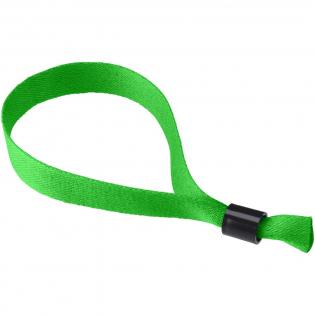 Polyester Armband mit Sicherheitsverschluss. Der Einwegverschluss verhindert, dass das Armband abgenommen wird, dadurch ist es perfekt geeignet für Parties und Events.
