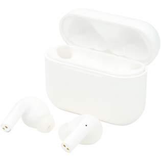 True Wireless auto pair oordopjes is een upgedatete versie met verbeterde geluidskwaliteit en formaat, en draadloos opladen van de batterij. Voorzien van Bluetooth® 5.1, automatisch koppelen, automatisch inschakelen, geïntegreerde muziekbediening en dubbele microfoons voor handsfree bediening. Zodra de oordopjes uit de houder worden verwijderd, worden ze ingeschakeld en automatisch met elkaar gesynchroniseerd, dus geen gedoe meer om de oordopjes te synchroniseren! De houder dient ook als powerbank voor de oordopjes en kan worden opgeladen met de bijgeleverde type C kabel. Zodra de 400 mAh batterij van de houder is opgeladen, kunnen de oordopjes er 3x van 0 tot en met 100% mee worden opgeladen. Met meer dan 6 uur werkingsduur op maximaal volume na één keer opladen, zijn deze oordopjes een must voor elke reiziger. Door het ergonomische ontwerp blijven de oordopjes goed op hun plaats terwijl je onderweg bent. Het duurt 1,5 uur om de oordopjes van 0 tot en met 100% op te laden. De houder kan in minder dan 1,5 uur worden opgeladen. Geschikt voor Siri en Google Assistant. Bereik van Bluetooth® is 10 meter. Geleverd in een premium geschenkverpakking.