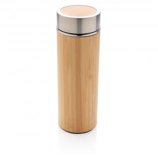 Unieke vacuüm-lekvrije fles wordt geleverd met 304 RVS binnenwanden en organisch bamboe buitenkant. Houd je drankjes maximaal 5 uur warm en koel tot 15 uur. Inhoud: 300 ml.