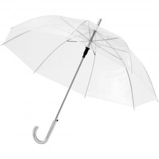 "23"" umbrella with metal frame, metal ribs and plastic handle."