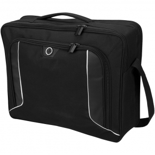 This exclusively designed, security-friendly briefcase includes integrated features to keep you powered up while traveling. The TSA-Friendly laptop compartment zips down to lay flat on the X-ray belt getting you through TSA checkpoints faster and more securely. The zippered center compartment includes dedicated power bank pocket, mesh storage pockets for cables and accessories and extra room for folders and files. The smart pass-through port in the front wall allows your cables to connect from the center compartment, where your power source is located, to the front organizer pocket to charge your tablet or phone while on the go.