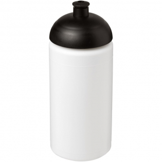 Single-wall sport bottle with integrated finger grip design. Features a spill-proof lid with push-pull spout. Volume capacity is 500 ml. Mix and match colours to create your perfect bottle. Contact customer service for additional colour options. Made in the UK.