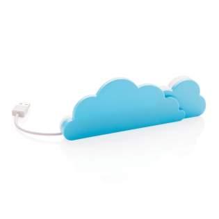 Cloud est un hub USB avec 4 ports USB 2.0 pour étendre les ports USB de votre ordinateur. Avec câble intégré dans le bas. Modèle déposé®