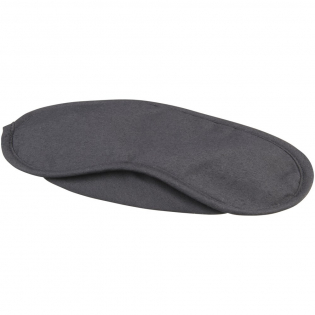 Augenmaske mit 2 schwarzen Gummibändern. Eine großartige Möglichkeit, bei Personen mit leichtem Schlaf, Vielreisenden, Schichtarbeitern und vielbeschäftigen Unternehmen für Ihre Marke zu werden.
