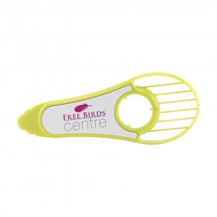 ABS Avocado snijder voor het eenvoudig opensnijden, ontpitten en in reepjes snijden van de avocado.