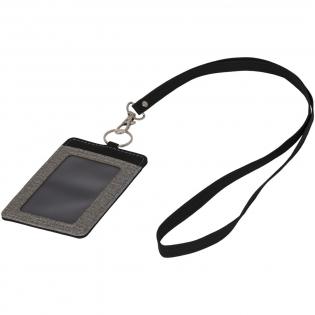 Badge holder with lanyard.