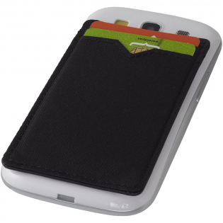 This RFID card sleeve will protect your credit and ID cards and keep your identity safe. Stick the wallet to the back of your phone for convenience. The 2 large pockets on the phone wallet can hold up to 4 cards.