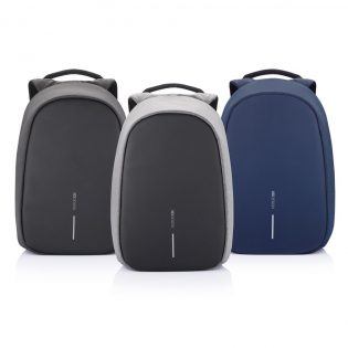 Bobby Pro will keep you safe, organised and connected with many new and unique features. It has adjustable internal dividers which allow you to divide your backpack content in many different ways. The patented fid lock system on the shoulder strap gives you quick and easy access to your phone or bottle/coffee cup. Additionally, the backpack has an integrated USB charging port, extendable key chain, hidden zippers, RFID protected pockets and cut proof PP board protection. The Bobby Pro is also sustainable, made with AWARE™ tracer. With AWARE™, the use of genuine recycled fabric materials and water reduction impact claims are guaranteed, by using the AWARE disruptive physical tracer and blockchain technology. Each Bobby Pro saves 16 litres of water and reuses 27 plastic bottles. Registered design®