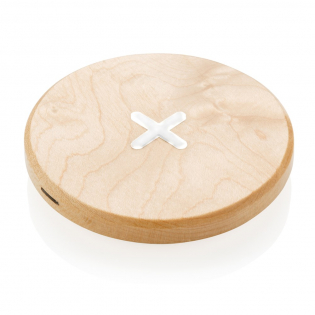 Charge your mobile devices without connecting a cable.  Just place your mobile phone on the pad and wait for the charging notification to appear. Made out of natural birch wood. Compatible with all QI enabled devices like Android latest generation, iPhone 8 and up. Input: 5V/2A. Wireless output: 5V/0.8A.