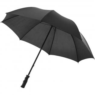 """Parapluie 23"""" avec mât et baleines en métal, poignée en plastique."""