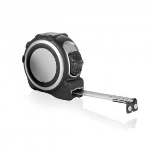 ABS case in matt silver, black rubber grip, black belt clip, silver colour sticker, matt silver continuous tape.