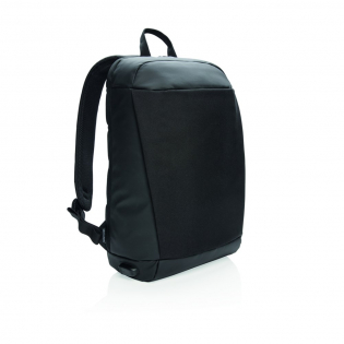 """This unisex anti theft backpack's interior is ingeniously padded to protect all your valuable electronics. Now you can store your 15.6"""" laptop, tablet, headphones, and more without fear of their being damaged or stolen.  Incorporating RFID protected sleeve pockets and USB side output. PVC free. Registered design®"""