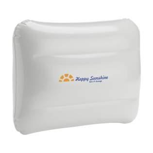 Opblaasbaar PVC hoofdkussentje met veiligheidsventiel.