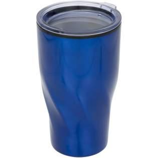 Der doppelwandige Becher hat Edelstahl Außenseite und AS Kunststoff Innenseite. Das ermöglicht Ihnen, dass Ihr Getränk 2 Stunden heiß oder 4 Stunden kalt bleibt. Transparenter Stülpdeckel, große Öffnung zum bequemen Befüllen und Ausgießen. Design mit drehendem, geometrischem Boden. Volumen 420 ml.