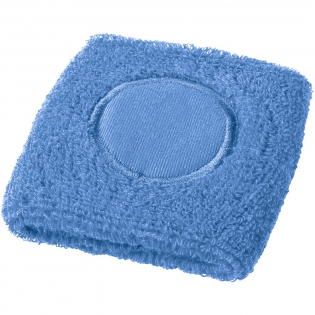 Soft and absorbent wristband.