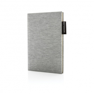 Liniertes A5 Hardcover Jersey Notizbuch mit Seitentrenner. 160 cremefarbene, linierte Seiten, 80g/qm