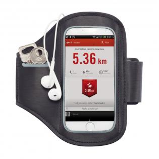 Neopreen telefoon armband om uw telefoon in op te bergen tijdens sportactiviteiten. Is geschikt voor de meest gebruikte telefoons: iPhone 5, 6, 7 en 8' Samsung Galaxy S4 en HTC one. Inclusief vak om uw oordopjes in op te bergen.