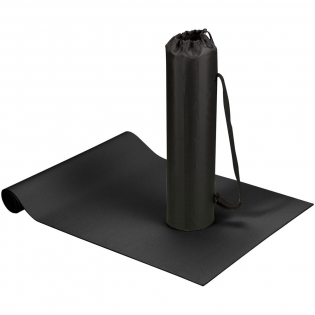 Comfortabele yoga en fitness mat met diamant patroon en antislip oppervlak. Inclusief polyester draagtas en instelbare schouderriem. Afmeting mat : 60x170x0,5cm.