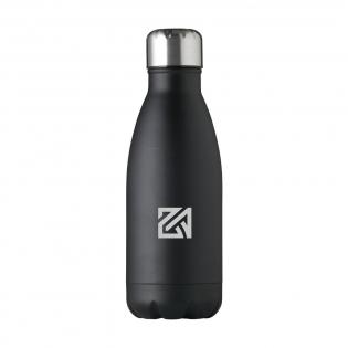 Einwandige Wasserflasche aus Edelstahl mit auslaufsicherem Schraubverschluss. Fassungsvermögen: 500 ml. Pro Stück in einer Verpackung.