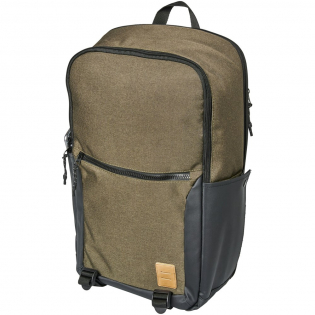 """A laptop backpack designed for everyday use. Featuring a 17"""" laptop sleeve in the main compartment, an easy access zippered pocket on the front flap and a front zippered pocket with organizational pocket. This backpack includes upgrades like high quality printed material, printed interior lining, vinyl lash tab and interchangeable zipper pullers. Added features like a mesh water bottle pocket and silicon grab handle on the bottom make this bag a must have."""