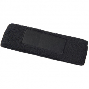 Soft and absorbent elastic cotton headband with rectangular 90x30mm patch for decoration.