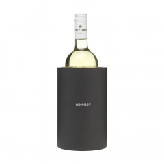 Double-walled stainless steel wine cooler with matt black exterior. Each piece in a box.