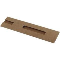 Präsentationshülle aus natürlichem Karton für einen Stift.