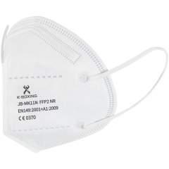 5 lagige FFP2-Gesichtsmaske mit weichem starkem Ohrgummi und Nasenbügel für einen guten Sitz. Die Einwegmaske hat eine hervorragende Filterwirkung (>98%) und wird für die Bevölkerung allgemein und für medizinisches Fachpersonal empfohlen, um Kreuzkontamination zu reduzieren. Schützt die Umgebung vor Partikeln, die vom Maskenträger abgegeben werden, und schützt den Maskenträger vor von der Umgebung abgegebenen Partikeln. Das atmungsaktive Material sorgt für einen angenehmen Tragekomfort und schützt vor Hautreizungen. Jede Maske ist in einem einzelnen Polybeutel verpackt, Größe: ca. 11,8 x 15,7 cm, und wird in einem 10er-Farbkarton geliefert, Größe: ca. 14 x 13 x 5 cm. Konformität: EN149:2001 + A1:2009. CE-Zertifizierung: ausgestellt von LGAI - benannte Stelle 0370.  Modul B Zertifizierung nr: 0370-4620-PPE/B. Modul C2 Zertifizierung nr: 0370-4620-PPE/C2.