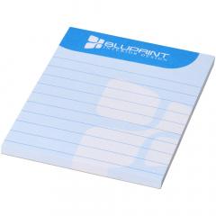 Wit A7 Desk-Mate® kladblok. Bevat vellen blanco papier van 80 g/m2. Standaard geleverd met 50 vellen, ook verkrijgbaar met 25 of 100 vellen. Decoratie mogelijk op elk blad. Afmetingen blad: 105x74mm.