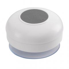 Wasserfester Bluetooth Shower Speaker mit eingebautem Mikrophon und perfekter Soundqualität. Verbinden Sie ihr Mobiltelefon oder ihr Tablet, um Telefonate aus der Badewanne zu führen oder unter der Dusche zu singen. Überall mit dem kleinen Saugnapf zu befestigen. Ausgang Lautsprecher: 3 W. Inklusive Lithium-Ion Batterie, USB/ Audiokabel und Gebrauchsanweisung. Pro Stück in einer Verpackung.