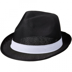 Trilby set of hat and ribbon. Hat: 100% Polyester. Ribbon: non-woven 100 g/m² Polypropylene.