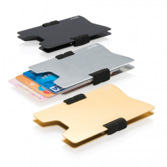 Slim down your wallet with this elegant minimalistic wallet design. The wallet can hold up to 8 credit cards. Ideal for credit cards, bills and business cards.With anti-skimming protection. It blocks 100% of all known RFID/NFC frequencies.
