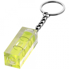 Spirit level key chain.