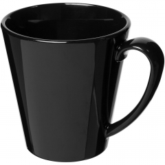 Durable, single-wall plastic mug. Volume capacity is 350 ml. Made in the UK.