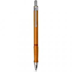 Druckbleistift zum dynamischen Schreiben und Skizzieren. Ausgestattet mit einem Metallmechanismus mit einziehbarer Mine. Dreieckiger Griff für bequemes Gefühl. Einziehbare Spitze und verfügt über hochpolymere 2B-Minen. Spitzengröße: 0,5 mm.