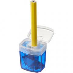 Taille crayon avec couvercle et réservoir de collecte des résidus.