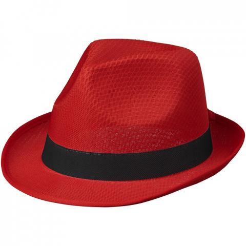 Trilby set van hoed en lint. Hoed: 100% polyester. Lint: non-woven 100 g/m² polypropyleen.