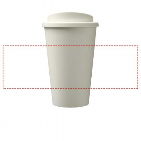 Double-wall insulated tumbler with screw-on lid and 350 ml capacity. Contains 25% plastic derived from sugar cane. This renewable source absorbs carbon dioxide whilst growing and is a by-product of the sugar industry. The use of sugar cane means less oil is used in the manufacture of each tumbler. The tumbler is 100% recyclable and packed in a home compostable bag. Made in the UK.