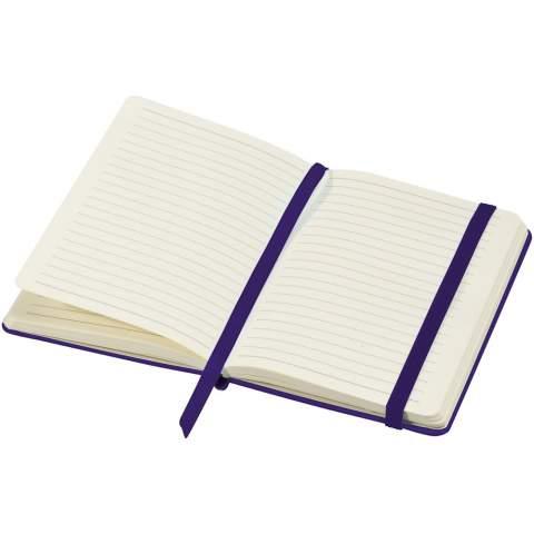 Ce carnet de notes cartonné au design classique exclusif (A5) avec fermeture élastique et 80 feuilles (80 g) de papier ligné est idéal pour l'écriture et le partage de notes. Dispose d'une poche extensible à l'arrière pour garder de petits notes. Avec présentation dans étui cadeau Journalbooks.