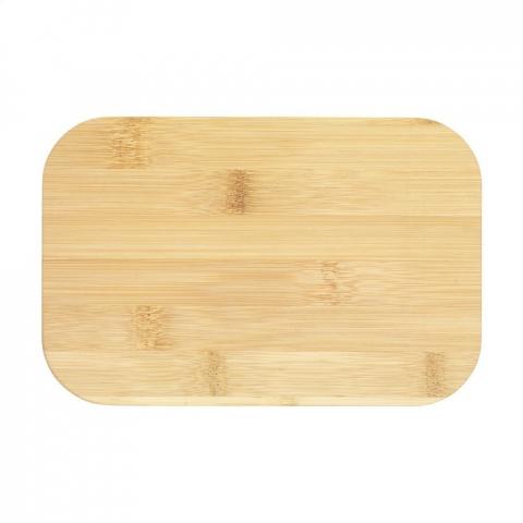 Boîte à lunch grand format en plastique PP. Le couvercle est en bambou naturel etferme hermétiquement la boîte. Une sangle élastique garantit que le couvercle reste bien en place lors de vos déplacements. Ce produit ne contient pas de mélamine. Chaque article estfourni dans uneboite individuelle en papier kraft marron.
