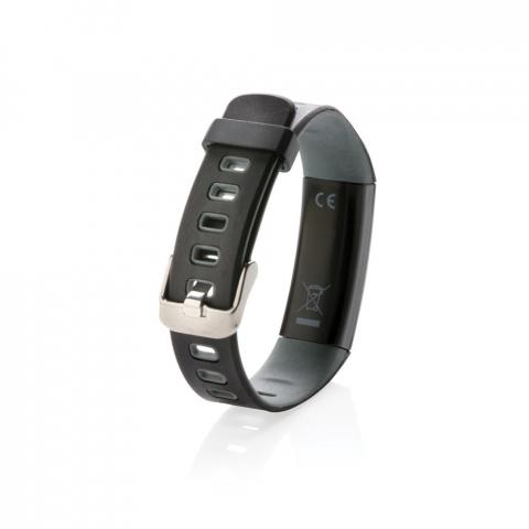 """Lichtgewicht activity tracker met waterdicht (IP67) en comfortabel polsbandje om de armband zowel overdag als 's nachts te dragen. Met eenvoudig te gebruiken 0'91"""" OLED-scherm dat kan worden gebruikt door op de zijkant te tikken. Inclusief gratis APP om inzicht te krijgen in je prestaties (IOS 8.1 en Android 4.4 of hoger compatibel) Functies omvatten slaapvritme, aantal stappen, afstand en aantal calorieën. Met deze modieuze activity tracker zet je de volgende stap naar een gezondere levensstijl."""