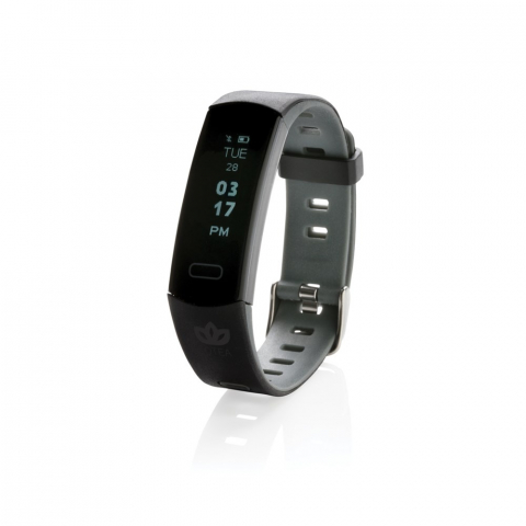 """Lightweight activity tracker with waterproof (IP67) and comfortable wristband to wear the bracelet both day and night. With easy to use 0.91"""" OLED screen that can be used by tapping the side. Including free APP to get insight into your achievements (IOS 8.1 and Android 4.4 or higher compatible) Tools included sleep tracking, step count, distance, and calorie count. With this fashionable activity tracker you will step into a healthier lifestyle."""