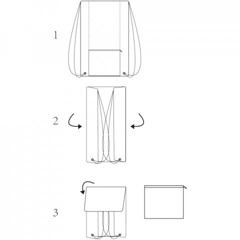 Sportbeutel mit großem Hauptfach mit Kordelzugverschluss in schwarzer Farbe. Mit meliertem Farbeffekt. Ausgestattet mit einer Fronttasche mit Reißverschluss, in die der Rucksack gefaltet und aufbewahrt werden kann. Beständigkeit bis zu 5 kg. Es kann zu geringfügigen Farbveränderungen des eigentlichen Produkts kommen, die auf die Beschaffenheit der Gewebefarbstoffe, Gewebe und Drucke zurückzuführen sind.