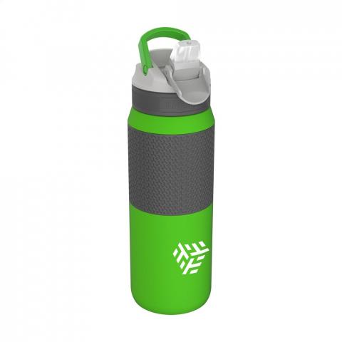 Duurzame, vacuümgeïsoleerde 18/8 RVS waterfles van het merk Kambukka®. Dankzij de Spout dop met drinktuit en het gebogen rietje hoef je je hoofd niet te kantelen om de fles leeg te drinken. Veilig tijdens het rijden en gemakkelijk tijdens het sporten. Gesloten wordt de drinktuit beschermd tegen vuil. • Excellente kwaliteit • BPA-vrij • houdt dranken tot maar liefst 24 uur koel • universele deksel; past ook op andere Kambukka® drinkflessen • de dop is hitte- en vaatwasserbestendig • handige rubberen grip • antislipbodem • 100% lekvrij • inhoud 750 ml.  VOORRAAD INFORMATIE: Tot 1.000 stuks beschikbaar binnen 10 werkdagen. Uitzonderingen voorbehouden.
