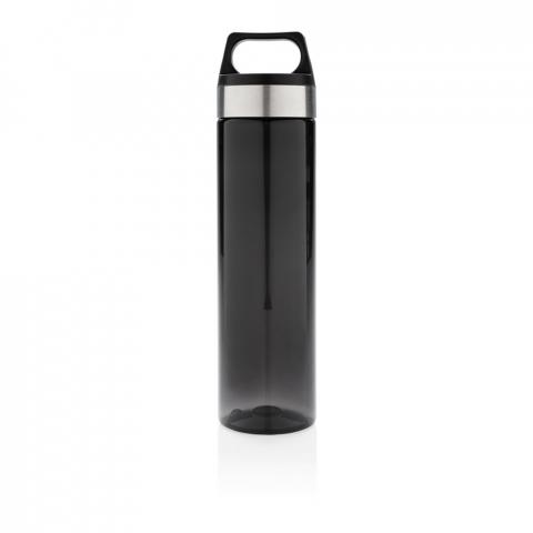 Bouteille étanche et durable en Tritan 650ml. Dragonne dans le bouchon et large goulot pour boire. Sans BPA, lavage à la main uniquement.