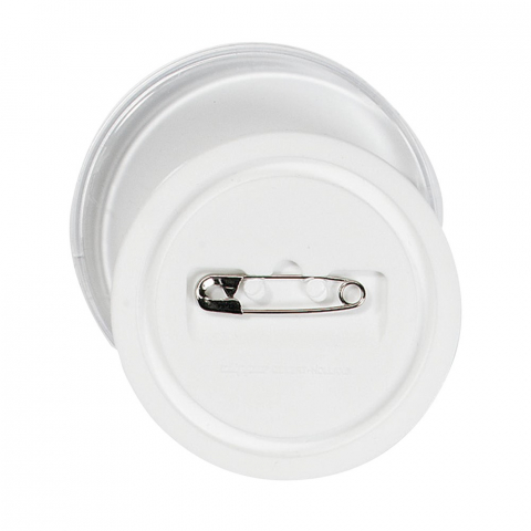 Kunststof button Ø 4 cm zonder inlegvel.