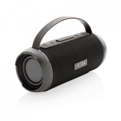 Haut-parleur 6W en polyester de qualité (IPX4), compacte mais puissant parfait pour les activités de plein air, pique-nique, barbecue ou à la plage. Batterie de 1200 mAh pour 6 heures d'écoute, et BT 5 pour une distance de fonctionnement jusqu'à 10 mètres. Avec micro et fonction prise d'appels.