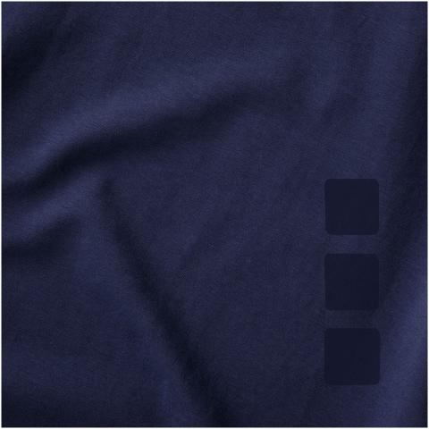 Nachhaltige Promotionbekleidung. Stoff Einfassung am Kragen. V-Ausschnitt. Stetch-Material. Rückstich Details. Zweifarbiges Schulter zu Schulter Nackenband. Transfer Hauptlabel für den etikettfreien Komfort.